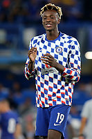 Tammy Abraham of Chelsea celebrates their penalty shoot out victory during Chelsea vs Lyon, International Champions Cup Football at Stamford Bridge on 7th August 2018