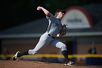West Virginia Black Bears relief pitcher Shane Kemp (54) delivers a pitch during a game against the Batavia Muckdogs on June 25, 2017 at Dwyer Stadium in Batavia, New York.  Batavia defeated West Virginia 4-1 in nine innings of a scheduled seven inning game.  (Mike Janes/Four Seam Images)