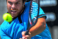 Zach Whaanga. 2019 Wellington Tennis Open at Renouf Centre in Wellington, New Zealand on Thursday, 19 December 2019. Photo: Dave Lintott / lintottphoto.co.nz