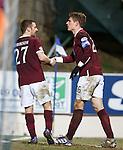 Marius Zaliukas alkmost too tired to celebrate his goal
