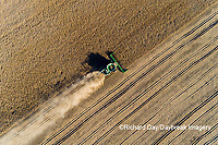 63801-13211 Harvesting soybeans in fall-aerial Marion Co. IL