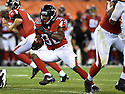 CLEVELAND, OH - AUGUST 18, 2016: Running back Cyrus Gray #30 of the Atlanta Falcons carries the ball in the fourth quarter of a preseason game on August 18, 2016 at FirstEnergy Stadium in Cleveland, Ohio. Atlanta won 24-13. (Photo by: 2016 Nick Cammett/Diamond Images) *** Local Caption *** Cyrus Gray