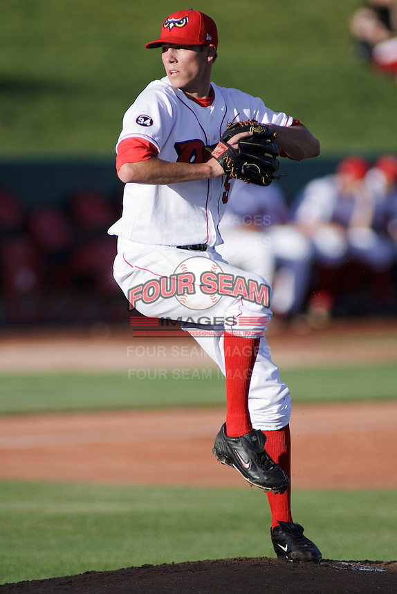 August 3, 2009:  Patrick Corbin 2009 2nd round draft pick (#80) of the Orem Owlz, Rookie Class-A affiliate of the Los Angeles Angels of Anaheim, during a game at the Orem Owlz Ballpark in Orem, UT. Photo by: Matthew Sauk/Four Seam Images