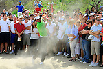 Tiger Woods (USA) in action during the second round of the Omega Dubai Desert Classic played at the Majilis Course, Emirates Golf Club, Dubai, UAE on 11th February 2011..Picture: Phil Inglis / www.golffile.ie.