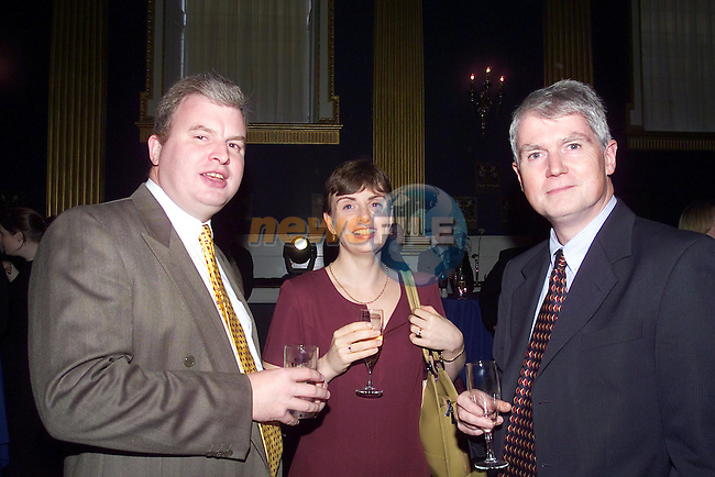 Tommy Robinson, Catherine O'Byrne and Frank Brennan.Pictured  at the Launch of Corporate Solutions in Dublin castle..No Repo Fee..Picture Fran Caffrey Newsfile...This Picture is sent to you by:..Newsfile Ltd.The View, Millmount Abbey, Drogheda, Co Louth, Ireland..Tel: +353419871240.Fax: +353419871260.GSM: +353862500958.ISDN: +353419871010.email: pictures@newsfile.ie.www.newsfile.ie