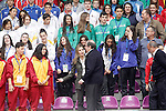 Princess Letizia of Spain attends the matches of the School Championship Volleyball of Spain in presence of the President of the Region of Castilla y Leon Juan Vicente Herrera.April 24,2014. (ALTERPHOTOS/Acero)