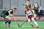 ALMERE - Hockey - Overgangsklasse competitie dames ALMERE- ROTTERDAM (0-0) . Sylvana van Kerkhof (Almere)  met links Susie Gilbert (R'dam)  COPYRIGHT KOEN SUYK