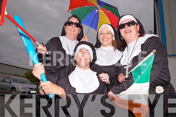 Jennifer Sutcliffe, Anthony Enright, Martina McElligott and Catriona Stack  at the Nuns Run and Harlem Shake last Monday, all a part of the Gathering Festival, Abbeyfeale.
