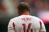 Thierry Henry (14) of the New York Red Bulls. The New York Red Bulls defeated the Houston Dynamo 2-0 during a Major League Soccer (MLS) match at Red Bull Arena in Harrison, NJ, on June 30, 2013.