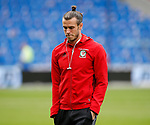 A pensive looking Gareth Bale has a walk out on the pitch  before the World Cup Qualifying Group D  match at the Cardiff City Stadium, Cardiff. Picture date 2nd September 2017. Picture credit should read: Simon Bellis/Sportimage