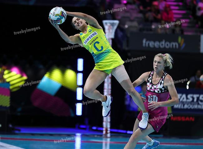29/10/17 Fast5 2017<br /> Fast 5 Netball World Series<br /> Hisense Arena Melbourne<br /> Australia v South Africa <br /> <br /> Ashleigh Brazill<br /> <br /> <br /> <br /> <br /> Photo: Grant Treeby