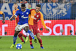 06.11.2018, Veltins-Arena, Gelsenkirchen, GER, CL, FC Schalke 04 vs Galatasaray Istanbul, DFL regulations prohibit any use of photographs as image sequences and/or quasi-video <br /> <br /> im Bild v. li. im Zweikampf Breel Embolo (#36, FC Schalke 04) Ozan Kabak (#43, Galatasaray) <br /> <br /> Foto &copy; nordphoto/Mauelshagen