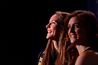 Philadelphia, PA - Thursday January 18, 2018: EJ (Emma Jane) Proctor, Jordan Angeli during the 2018 NWSL College Draft at the Pennsylvania Convention Center.