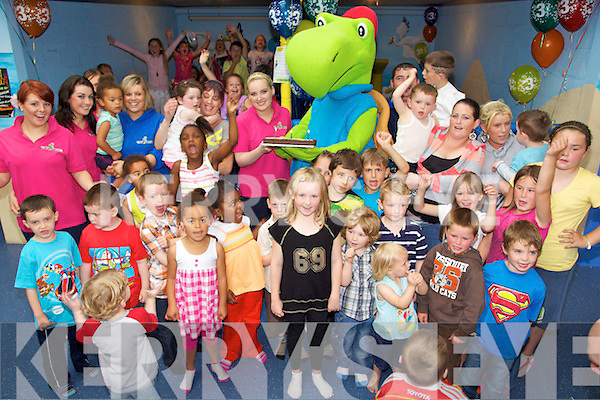 Toby the Turtle pictured celebrating his 3rd birthday with children and staff of Toby World, Manor Park on Sunday afternoon.