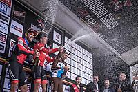 Podium:<br /> <br /> 1st place: Mads Pedersen (DEN/Trek Segafredo)<br /> 2nd place: Jempey Drucker (LUX/BMC)<br /> 3th place: Oliver Naesen (BEL/AG2R)<br /> <br /> 78th Euro Metropole Tour 2018<br /> La Louvière – Tournai (BEL): 206km