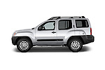 Car Driver side profile view of a2014 Nissan Xterra S 5 Door Suv Side View