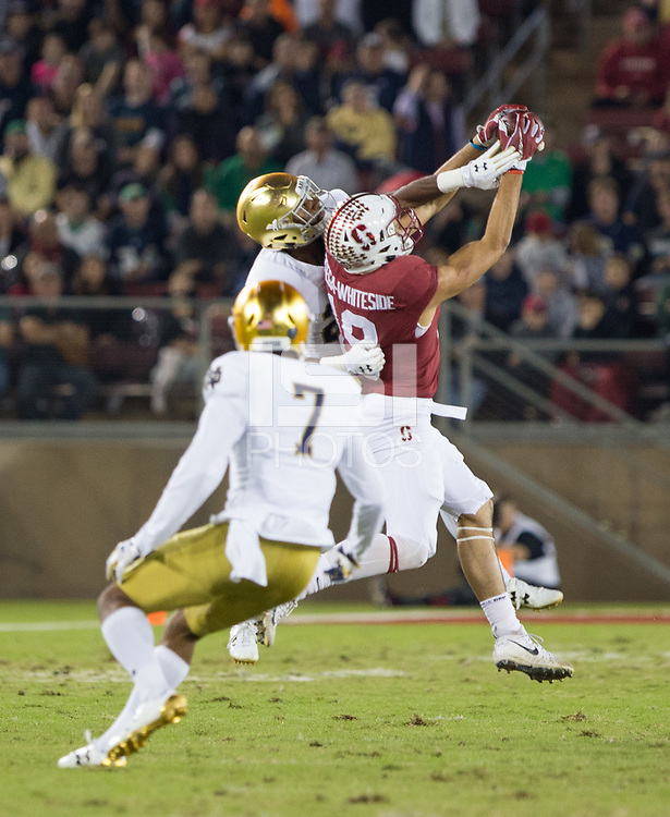 Stanford, California - November 25,  2017: The Stanford Cardinal Football defeats Notre Dame Irish 38-20 at Stanford Stadium at Stanford, California.