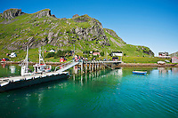 Harbour pier, Vindstad, Lofoten islands, Norway