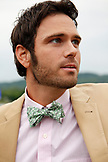 USA, Tennessee, Nashville, Iroquois Steeplechase, stylish young man in a bow tie