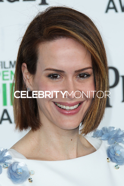 SANTA MONICA, CA, USA - MARCH 01: Sarah Paulson at the 2014 Film Independent Spirit Awards held at Santa Monica Beach on March 1, 2014 in Santa Monica, California, United States. (Photo by Xavier Collin/Celebrity Monitor)