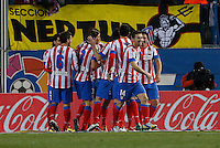 20.01.2013 SPAIN -  La Liga 12/13 Matchday 20th  match played between Atletico de Madrid vs Levante Union Deportiva (2-0) at Vicente Calderon stadium. The picture show