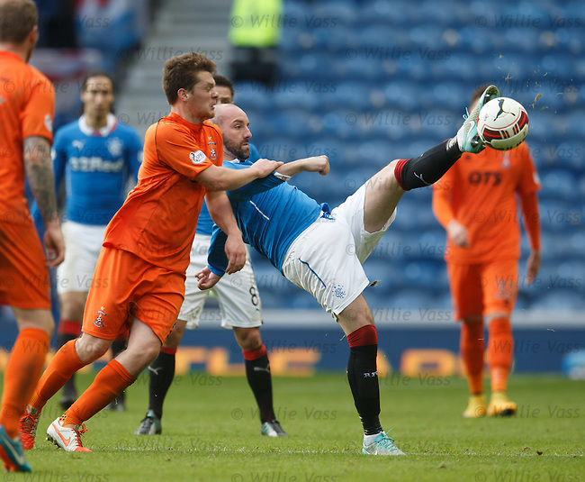 Kris Boyd hooks the ball away