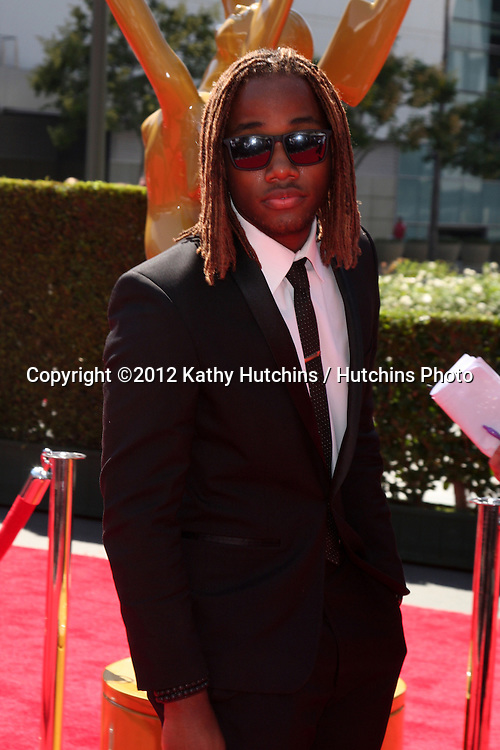 LOS ANGELES - SEP 15:  Leon Thomas III arrives at the  Primetime Creative Emmys 2012 at Nokia Theater on September 15, 2012 in Los Angeles, CA