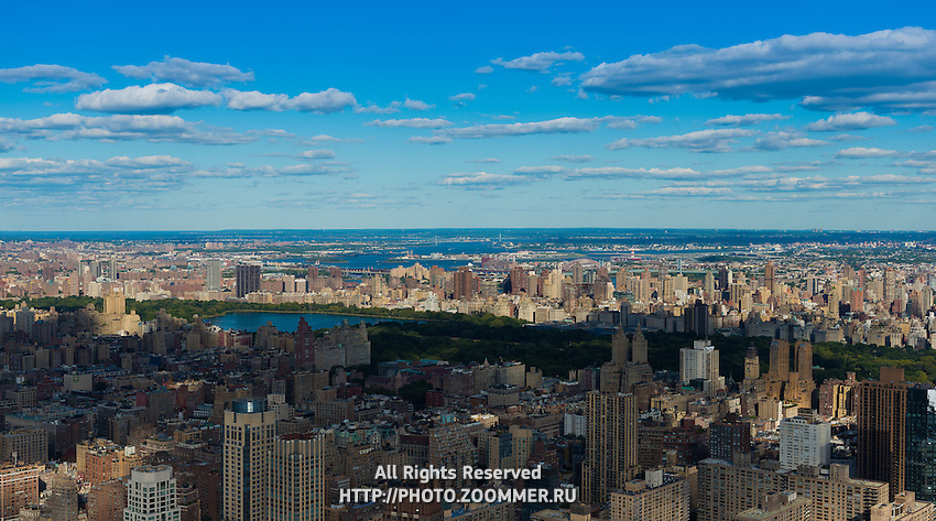 Aerial View Of Central Park And Upper Manhattan From Helicopter, New York
