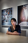 Tokyo, June 27 2012 -  Portrait of the Japanese photographer Rinko Kawauchi in front of her exhibition about March 2011 tsunami in Northern Japan.