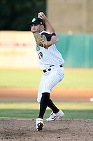 August 17 2008:  Brent Lysander of the Kane County Cougars, Class-A affiliate of the Oakland Athletics, during a game at Philip B. Elfstrom Stadium in Geneva, IL.  Photo by:  Mike Janes/Four Seam Images