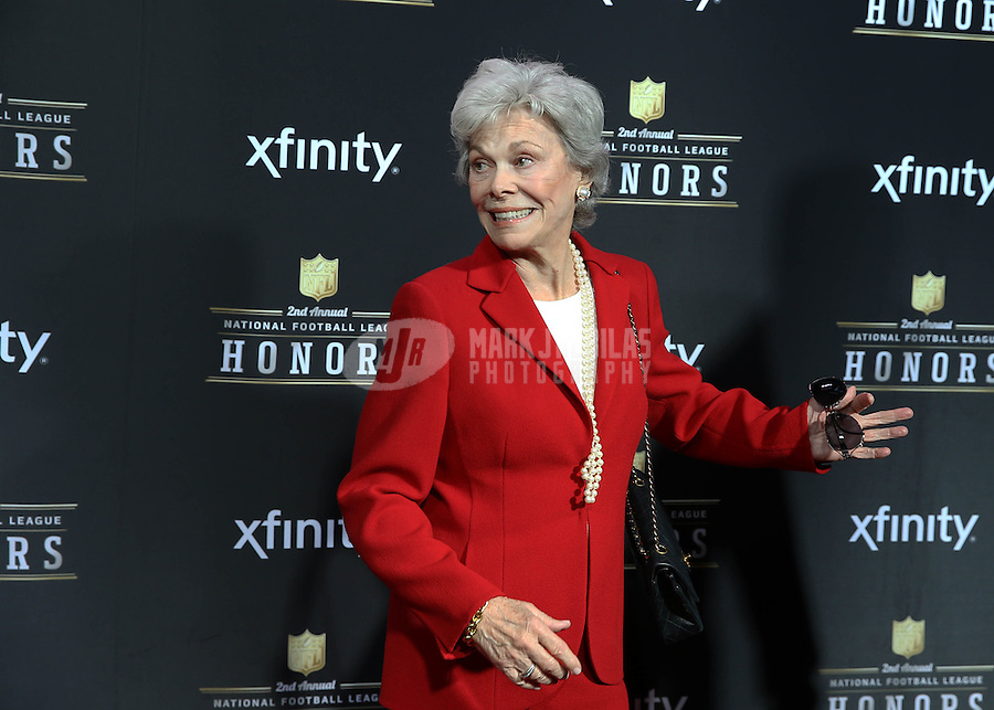 Feb. 2, 2013; New Orleans, LA, USA: Janice McNair , wife of Houston Texans owner Robert McNair (not pictured) on the red carpet prior to the Super Bowl XLVII NFL Honors award show at Mahalia Jackson Theater. Mandatory Credit: Mark J. Rebilas-USA TODAY Sports