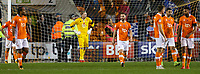 Blackpool players react after Portsmouth's Brett Pitman's late winner<br /> <br /> Photographer Alex Dodd/CameraSport<br /> <br /> The EFL Sky Bet League One - Blackpool v Portsmouth - Saturday 11th November 2017 - Bloomfield Road - Blackpool<br /> <br /> World Copyright &copy; 2017 CameraSport. All rights reserved. 43 Linden Ave. Countesthorpe. Leicester. England. LE8 5PG - Tel: +44 (0) 116 277 4147 - admin@camerasport.com - www.camerasport.com