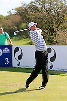 Anders Hansen (DEN) on the 3rd tee during Round 2 of the KLM Open at Kennemer Golf &amp; Country Club on Friday 12th September 2014.<br /> Picture:  Thos Caffrey / www.golffile.ie