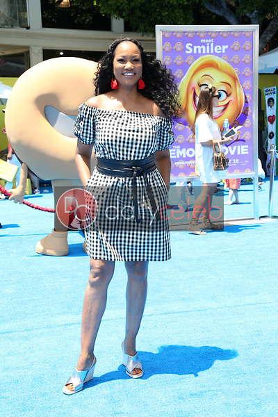 """Garcelle Beauvais<br /> at the premiere of """"The Emoji Movie,"""" Village Theater, Westwood, CA 07-23-17<br /> David Edwards/DailyCeleb.com 818-249-4998"""