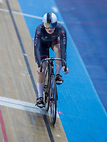 25th January 2020; National Cycling Centre, Manchester, Lancashire, England; HSBC British Cycling Track Championships; Lauren Bell wins her female keirin heat
