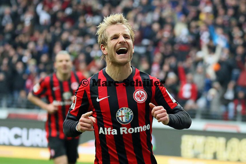 Stefan Aigner (Eintracht) erzielt das 3:0 - Eintracht Frankfurt vs. SC Paderborn 07, Commerzbank Arena