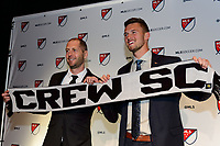 Philadelphia, PA - Friday January 19, 2018: Graigg Berhalter, Ben Lundgaard during the 2018 MLS SuperDraft at the Pennsylvania Convention Center.