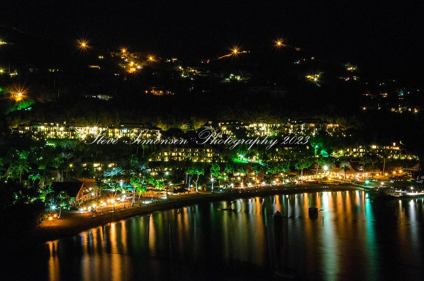 Westin Resort reflection<br /> Great Cruz bay from contant, St. John