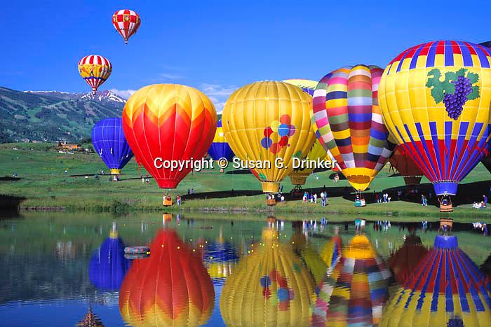 Snowmass Village Ballon Festival pano