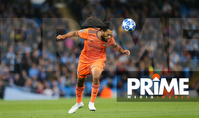 Jason DENAYER of Olympique Lyonnais during the UEFA Champions League match between Manchester City and Olympique Lyonnais at the Etihad Stadium, Manchester, England on 19 September 2018. Photo by David Horn / PRiME Media Images.