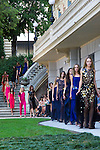 04.09.2012. Models walk the runway in the Alvarno fashion show during the OFF Mercedes-Benz Fashion Week Madrid Spring/Summer 2013 at Museo Lazaro Galdiano. (Alterphotos/Marta Gonzalez)