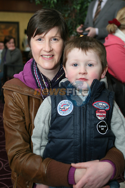Dara Cooney with Dan Cooney Kearns at the Coffee Morning Fundraiser in aid of Trocaire organised by Inse Bay Residents...Photo NEWSFILE/Jenny Matthews.(Photo credit should read Jenny Matthews/NEWSFILE)....This Picture has been sent you under the condtions enclosed by:.Newsfile Ltd..The Studio,.Millmount Abbey,.Drogheda,.Co Meath..Ireland..Tel: +353(0)41-9871240.Fax: +353(0)41-9871260.GSM: +353(0)86-2500958.email: pictures@newsfile.ie.www.newsfile.ie.FTP: 193.120.102.198.