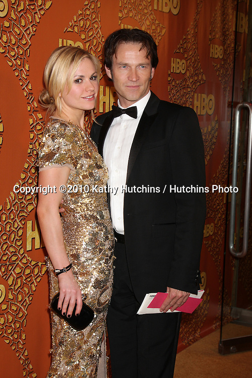 Anna Paquin & Stephen Moyer.arriving at the 67th Annual Golden Globe Awards Official HBO After Party.Beverly Hilton Hotel.Beverly Hills, CA.January 17, 2010.©2010 Kathy Hutchins / Hutchins Photo....