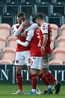 Ashley Hunter of Fleetwood Town is congratulated after scoring the second goal during Barnet vs Fleetwood Town, Emirates FA Cup Football at the Hive Stadium on 10th November 2019