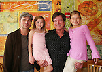 """Guiding Light's Daniel Cosgrove """"Billy Lewis"""" and Frank Dicopoulos """"Frank Cooper"""" poses with two young fans  as Daniel and Frank donated their time for Young Women's Breast Cancer Awareness Foundation by going to Pittsburgh, PA on October 7, 2008 and went Pink with Panera. They visited three of 27 Panera Bread locations during the day where 100% of sales from their Pink Ribbon bagels went to the foundation and a portion of those sales all during the month of October. For more information go to www.breastcancerbenefit.org. The day started out with Star 100.7 and the hosts Kate and JR interviewed Frank Dicopoulos. The two actors then went to the CBS studio in Pittsburgh in the morning. The day was a great hit. (Photo by Sue Coflin/Max Photos)"""