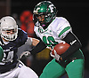 Farmingdale running back No. 40 Kevin Eversley carries the ball during the Nassau County varsity football Conference I final against Oceanside at Hofstra University on Saturday, Nov. 21, 2015. Farmingdale won by a score of 34-23.<br /> <br /> James Escher
