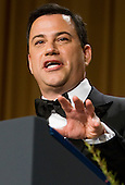 Comedian Jimmy Kimmel delivers remarks at the 2012 White House Correspondents Association Dinner held at the Washington Hilton Hotel in Washington, D.C. on Saturday, April 28, 2012. .Credit: Kristoffer Tripplaar  / Pool via CNP