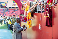 Landover, MD - November 4, 2018: Washington Redskins Doug Williams signs autographs before the game between the Atlanta Falcons and the Washington Redskins at FedEx Field in Landover, MD. (Photo by Phillip Peters/Media Images International)