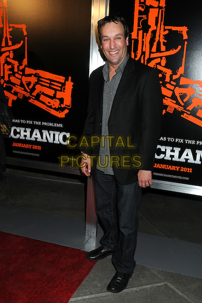 "GABRIEL JARRET .""The Mechanic"" Los Angeles Premiere held at Arclight Cinemas, Hollywood, California, USA, 25th January 2011..full length black jacket jeans grey gray shirt .CAP/ADM/BP.©Byron Purvis/AdMedia/Capital Pictures."