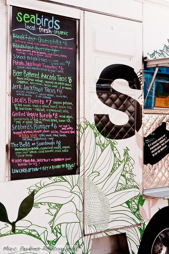 A colorful menu for colorful food that's differnet from your typical food truck sliders and quesadillas.  I got there too late to enjoy their breakfast fare (that whole waking up early thing is hard).
